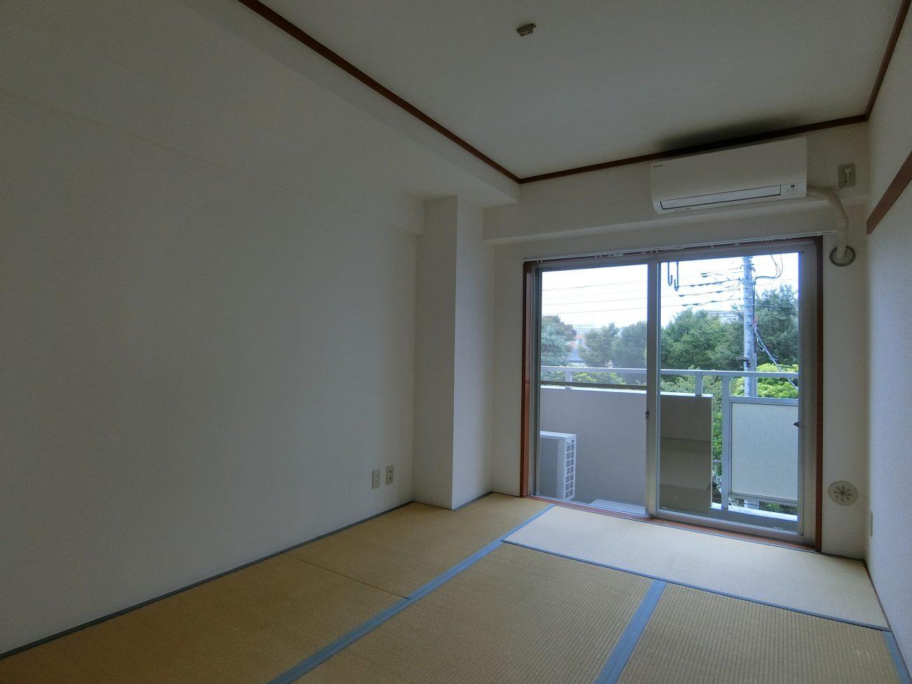 綾瀬 築30年の45m2 2DKをリモートワーク用書斎リノベで賃料2万円アップ、完成前申し込みの画像