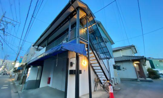 志木 築47年 木造アパート 屋根貼り換え、外壁塗装で工事中に全室満室にの画像