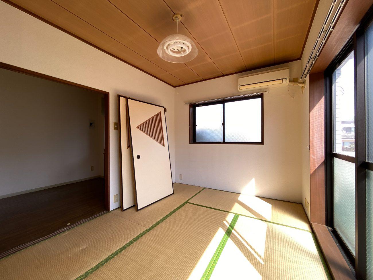 都立大学 築33年 RC 43㎡ 天井躯体表し+カウンターキッチンで完成前に入居確定の画像